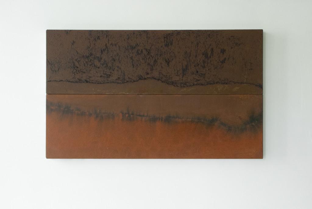 Ymmortal VII, 2016. Staal, lak, inkt. L 41,5cm B 68cm D 6cm