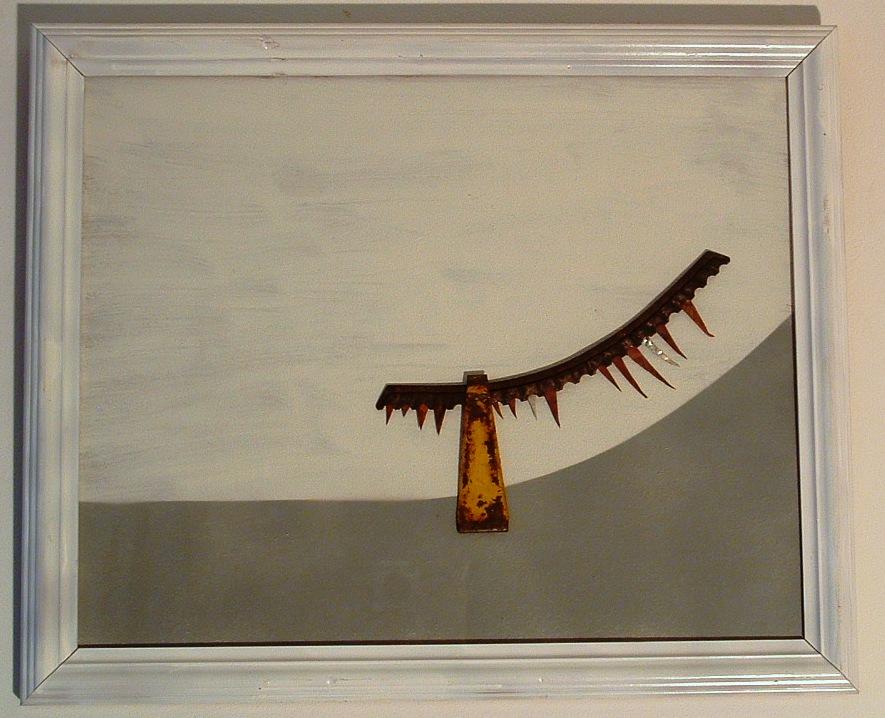 """""""Semiofoor III"""" 2011, Roestig staal, zilver, koper. L 47cm, B 57cm."""