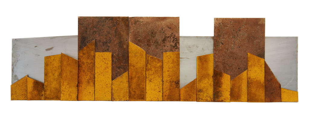 Reprogress XIV, (verkocht) 2013, staal, magneten30x90x6