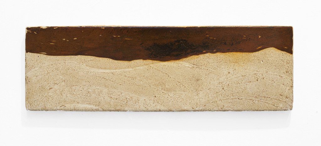 "(Verkocht) ""Nibiru VII"" 2012. Roestig staal. L 27cm, B 85cm."