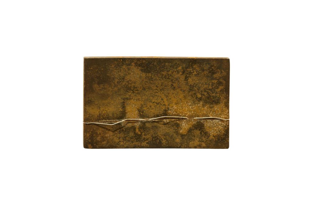 """Acheron"" Verkocht. 2011, Staal, Zilver. L 20cm, B 12cm, D 5cm"