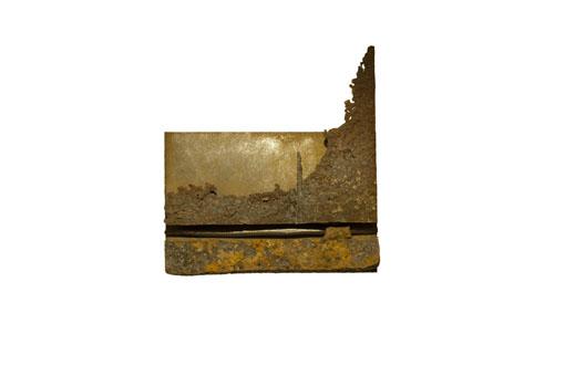 "(verkocht) ""Cocytus"" 2011. Staal, magneten. L 25cm B 25cm D 5cm"