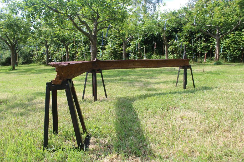 Reprogress XXVIII, 2014. Staal, hout.Gemaakt voor Kunstschouw Westschouwen 2014