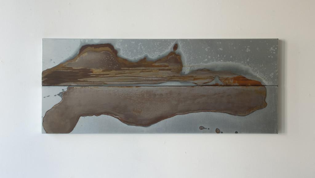 Ymmortal XII, 2016. Staal, lak. L 40cm, B 98cm, D 3cm